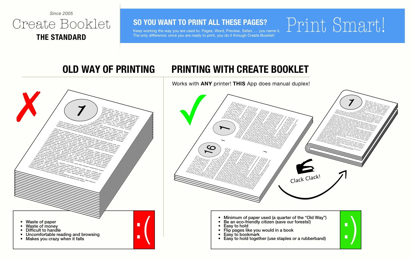 Create Booklet • The Standard • Print any document as a booklet